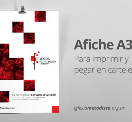 Afiche «Jesús, vida para descubrir y compartir»
